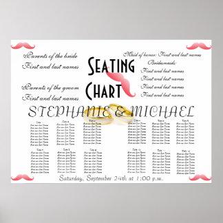Wedding Seating Chart Mustache Mustaches