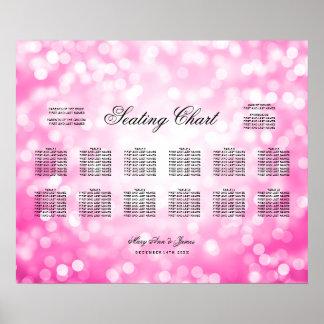 Wedding Seating Chart Pink Glitter Lights
