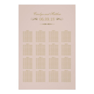 Wedding Seating Chart Poster | Antique Flourish