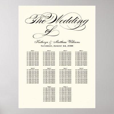 Template monogram wedding seating chart zazzle com