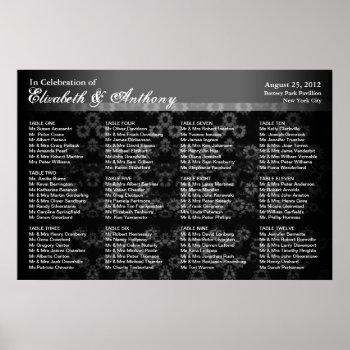 Wedding Seating Chart Poster Black Vintage print