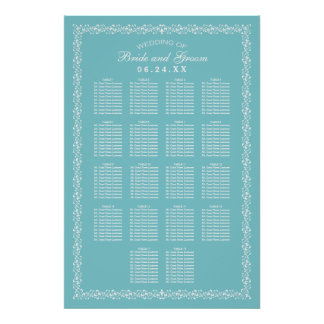 Wedding Seating Chart Poster | Custom Design