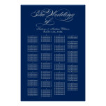 Wedding Seating Chart Poster | Silver Calligraphy