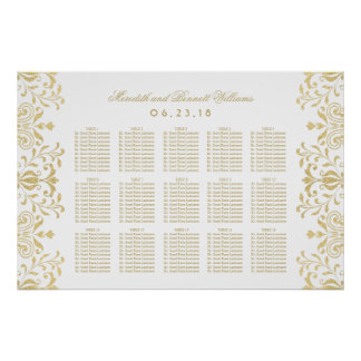 Wedding Seating Chart Poster | Vintage Glam Design
