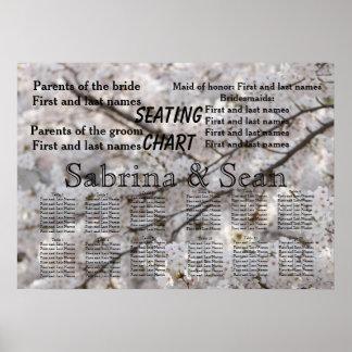 Wedding Seating Chart Romantic Cherry Blossoms