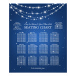 Wedding Seating Chart Sparkling Chain Blue Poster