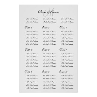 """Wedding seating chart template """"Make your own"""" Poster"""