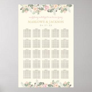 Wedding Seating Poster | Spring Boho Florals