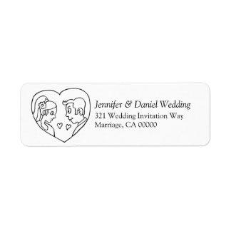 Wedding Self Adhesive Label Stickers