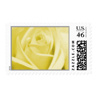 Wedding: Serene Yellow and Grey -postage stamps