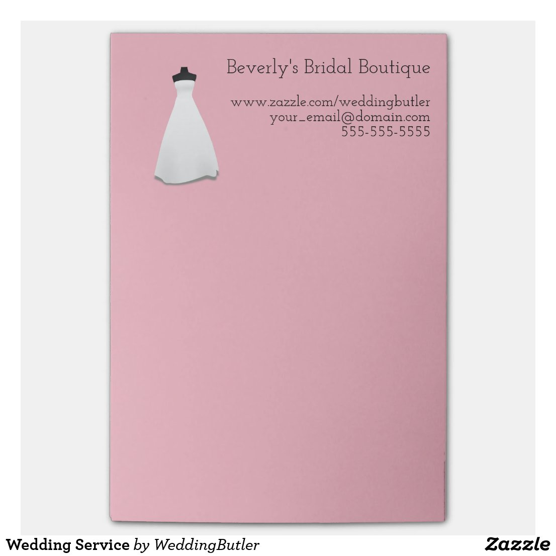 Wedding Service Post-it® Notes