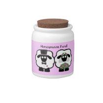 Wedding Sheep Honeymoon Savings Fund Jar