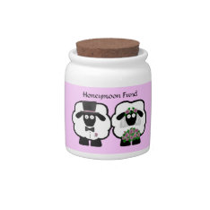 Wedding Sheep Honeymoon Savings Fund Jar Candy Jar at Zazzle