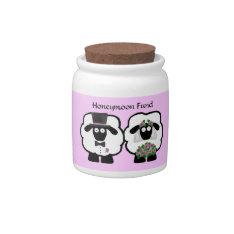 Wedding Sheep Honeymoon Savings Fund Jar Candy Jar at Zazzle