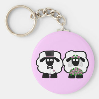 Wedding Sheep Keychain