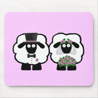 Wedding Sheep Mousepad