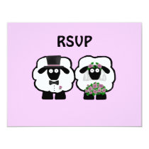 Wedding Sheep RSVP Card