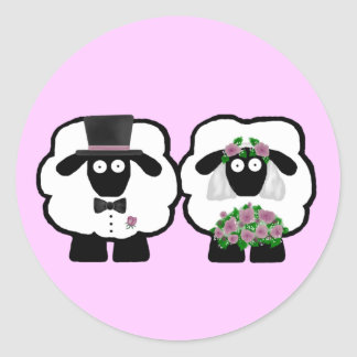 Wedding Sheep Stickers