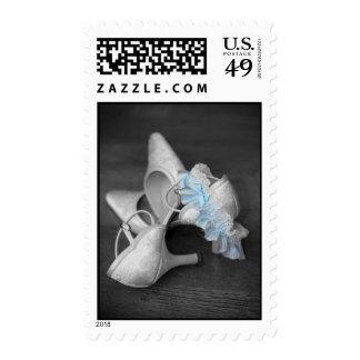 Wedding Shoes and Garder Belt Postage Stamp Stamps