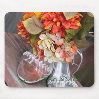 Wedding Shoes and Wedding Flower Arrangement Mouse Pad