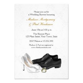 Wedding Shoes, Couple Bridal Shower 5x7 Paper Invitation Card