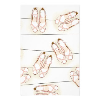 Wedding shoes pattern stationery
