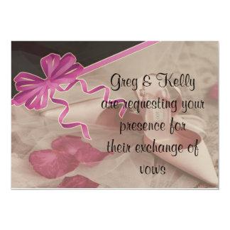 Wedding Shoes Rose Petals Set Card
