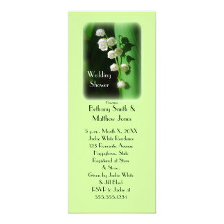 Wedding Shower Green Invitation Lily of the Valley