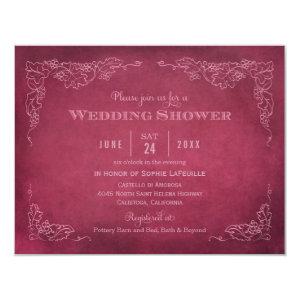Wedding Shower Invitation | Vintage Vineyard 4.25
