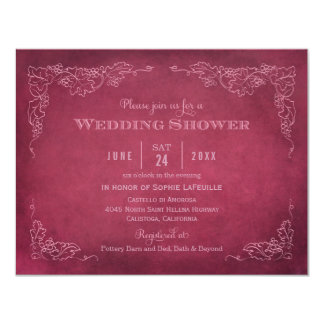 Wedding Shower Invitation | Vintage Vineyard Custom Invites