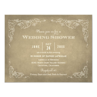 Wedding Shower Invitation | Vintage Vineyard Custom Invite