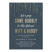 Wedding Shower Invitations - Bubbly Faux Gold Foil
