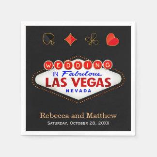 Wedding Shower Las Vegas Wedding Party Standard Cocktail Napkin