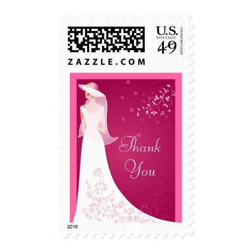 Wedding Shower Thank You Custom Postage