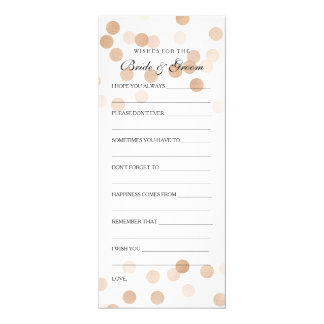 Wedding Shower Wishes Copper Foil Glitter Lights 4x9.25 Paper Invitation Card