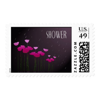 wedding shower with raindrops postage stamps