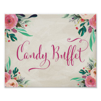 Wedding Sign -Candy Buffet Poster