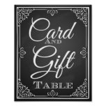 Wedding sign card and gift table poster