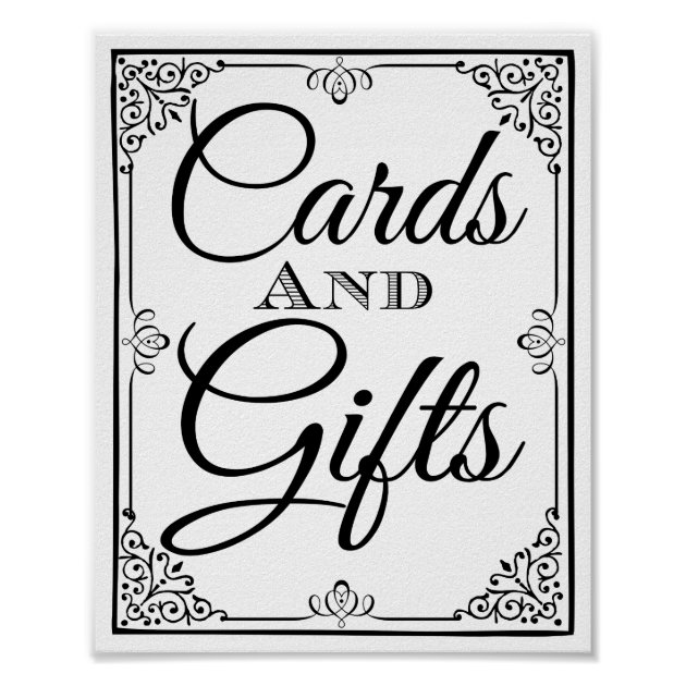 Wedding sign cards and gifts table | Zazzle.com