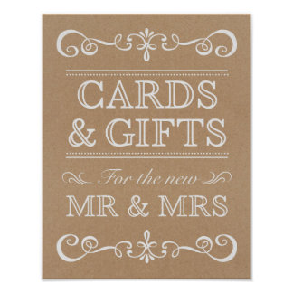 Wedding Sign – Cards & Gifts Rustic Wedding Sign