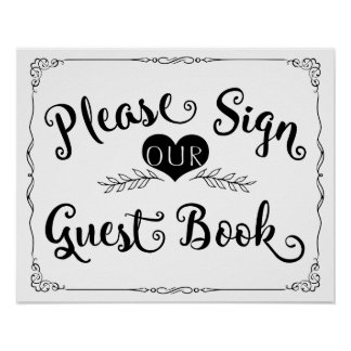 "Wedding sign chalkboard ""Guest book"" custom color"