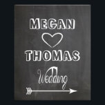 "Wedding sign Chalkboard style  party way right<br><div class=""desc"">Easy to customise with your names,  look for left hand side on my shop!</div>"