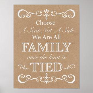 Wedding Sign – Choose A Seat Rustic Wedding Sign