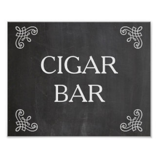 Wedding sign - cigar bar or your own text poster