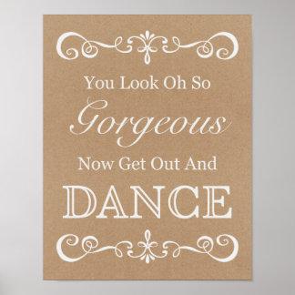Wedding Sign – Dance Floor Rustic Wedding Sign