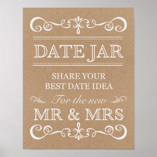 Wedding Sign – Date Jar Rustic Wedding Sign