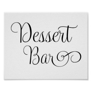 Wedding Sign - Desert Bar Sign