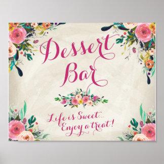 Wedding Sign - Desert Bar Sign Poster