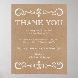 Wedding Sign – Donation Rustic Wedding Sign