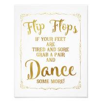 wedding sign, flip flops, wedding, gold photo print